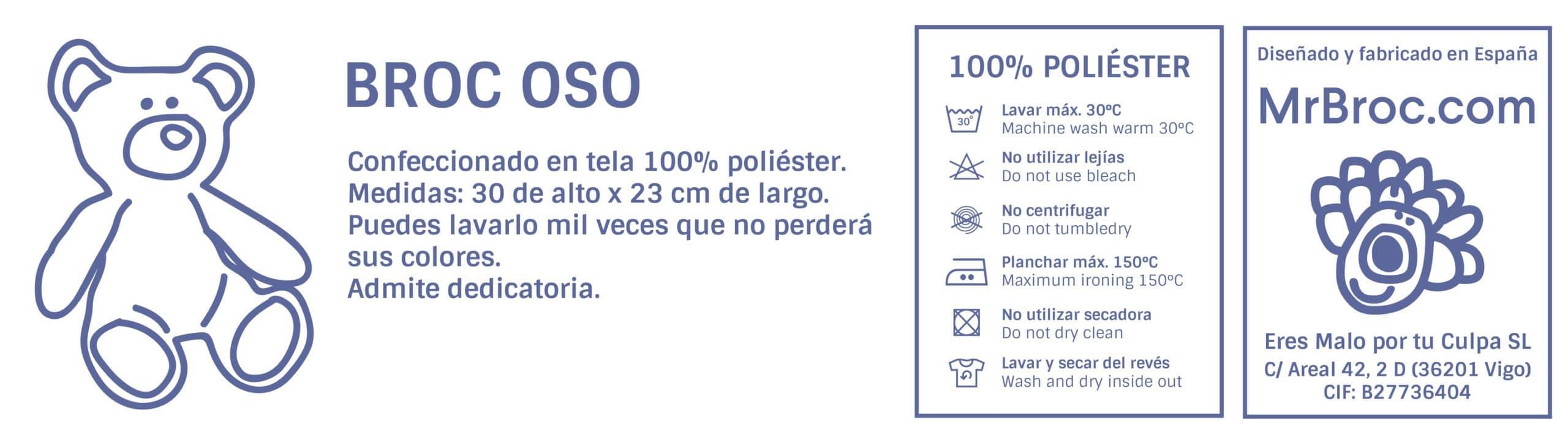 Ficha técnica Oso Personalizado Regaloalprofe.com