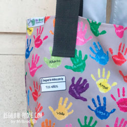 bolso personalizado regalos profesores dibujos alumnos niños fin de curso mr broc