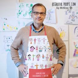 delantal personalizado regalos profesores dibujos alumnos niños fin de curso mr broc