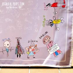 mantel personalizado regalos profesores dibujos alumnos niños fin de curso mr broc