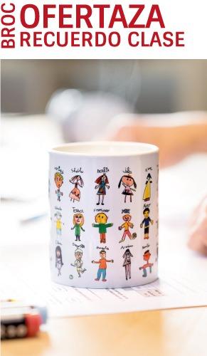 Oferta taza personalizada con los nombres y los dibujos de los niños