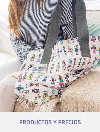 Bolso Tote Bag personalizado con dibujos y nombres de niños