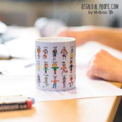 taza personalizada regalos profesores dibujos alumnos niños fin de curso mr broc