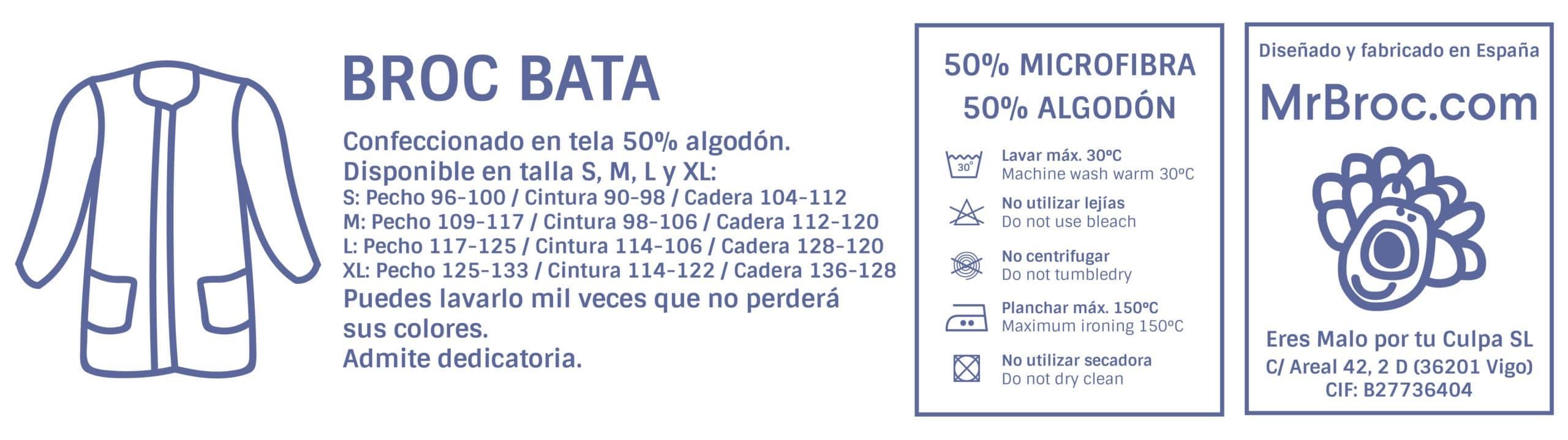 Ficha técnica Bata Personalizada para profesores