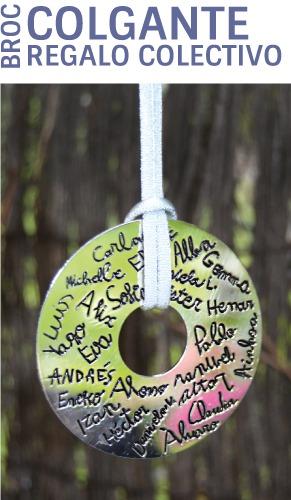 Colgante personalizado con los nombres de niños