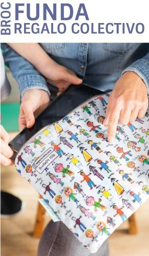 Funda para portátil personalizada con los nombres y los dibujos de los niños