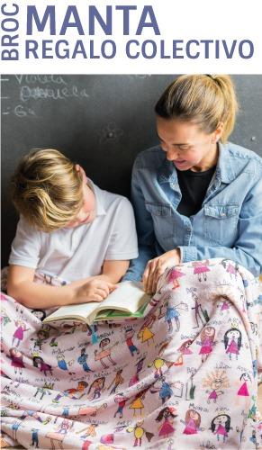 mantas personalizadas regalos para profesores manitas mr broc 1