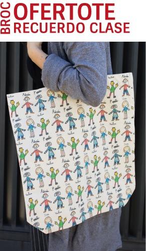 Oferta Tote Bag personalizada con los nombres y los dibujos de los niños