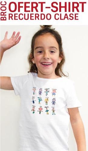 Oferta camiseta personalizada con los nombres y los dibujos de los niños