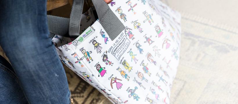 Bolso Tote Bag personalizado con dibujos de niños