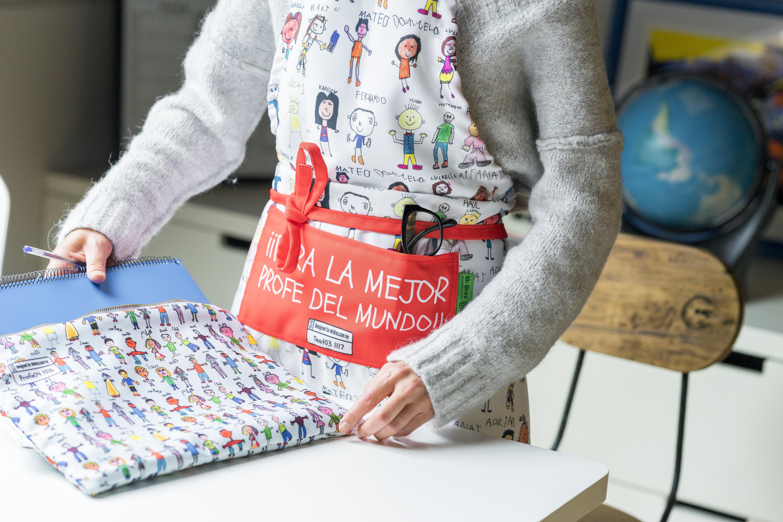 delantal personalizado con dibujos de los niños