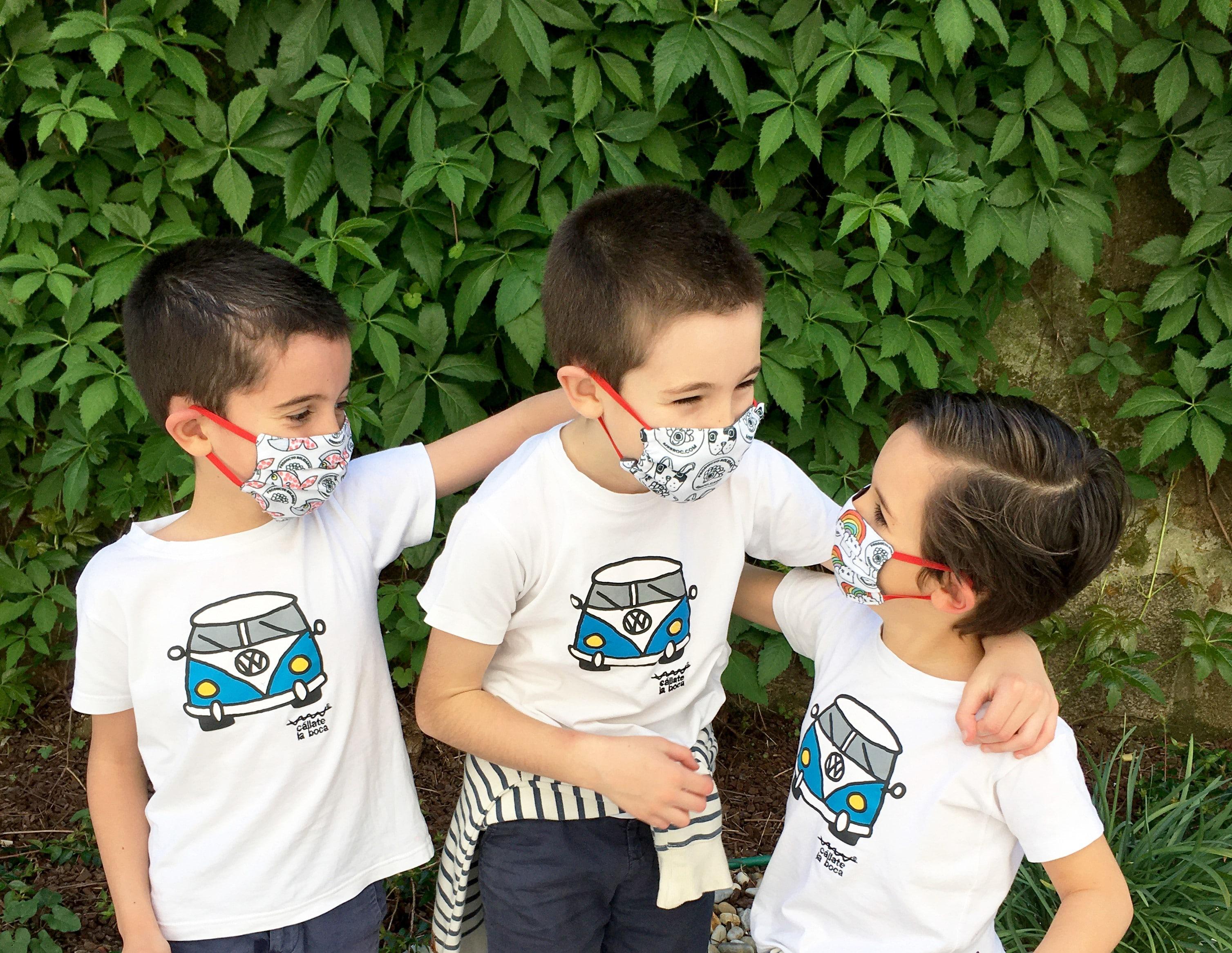 mascarillas personalizadas para los niños de la clase