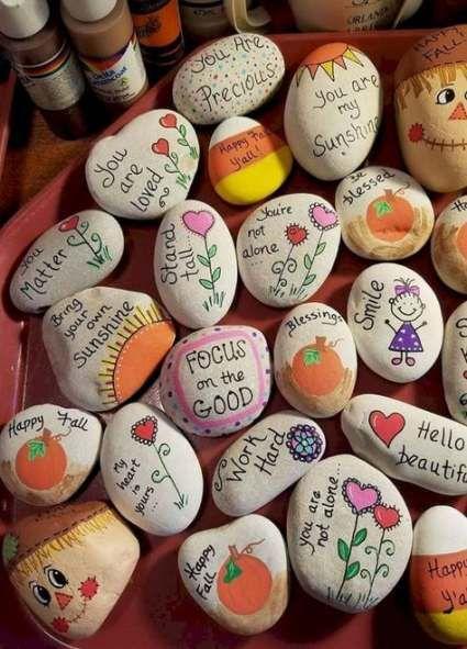 Manualidad piedras pintadas